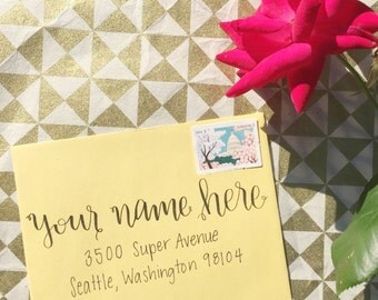 Hand Written Letter on Cute Stationery- Note of Encouragement
