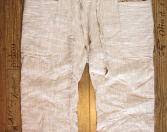 Anastazia Pants shorts 3/4, 100% Linen, huge side pockets