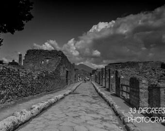Path to Pompeii Black & White Photo