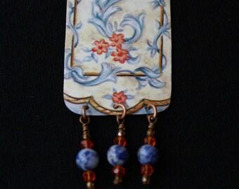 Artistic Handmade tin necklace