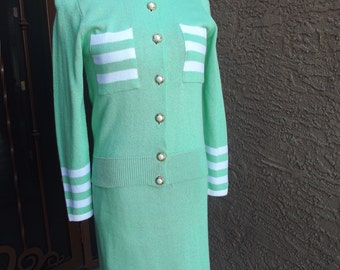 Mint Green Knit Suit