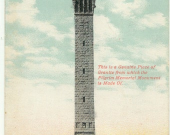 Pilgrim Memorial Monument PROVINCETOWN Massachusets 1912 Antique Postcard Post Card