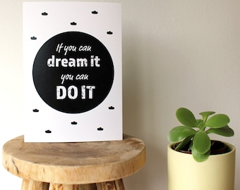 motivational card, encouraging card, good luck card, inspirational card, positive card, encouragement card, good luck, new job card, quote