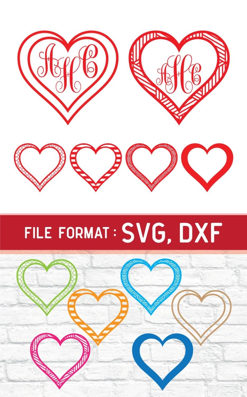 Download SVG Love Monogram Cricut Files Vinyl Cutters Couples SVG