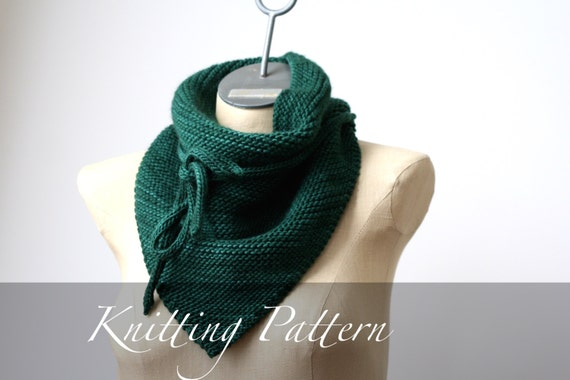 Free Knitting Patterns For Beginners Baby Blanket : Knitting Pattern Bandana Wrap Scarf Pattern Bandana