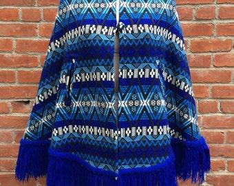 tagless treasure: Vintage woven blue cape
