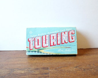 Vintage Touring Automobile Card Game Parker Brothers 1958 ON SALE