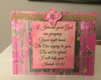 Jw Encouragement Greeting Card