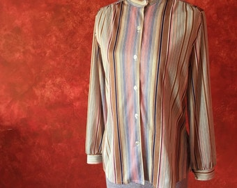 Fantastic Late 1960s Striped Shirt.