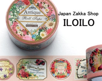 """Roll Tape,""""Antique style rose"""",pink-523,paper tape"""