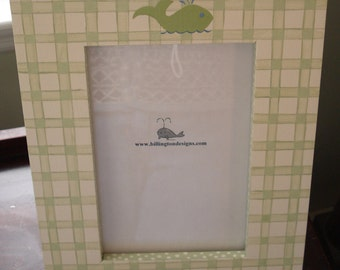 Picture Photo Frame - gingham print