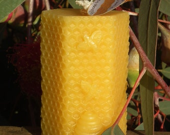 Pure Beeswax Candle - hexagonal