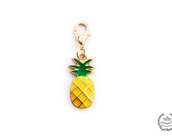 Pineapple charm 35 mm add-on, Keychain or Jewelry Tassel, Jewelry Making Supplies