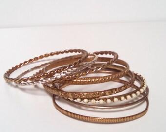 Bangle Bracelets Set of 8 Mix and Match Girls Bracelets Womens Bracelets One Size Fits All