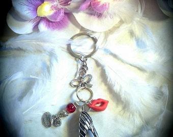 """Door key bag jewelry """"Femme fatale"""""""