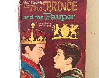 "1962 Walt Disney ""The Prince and the Pauper"" Hardback Book"
