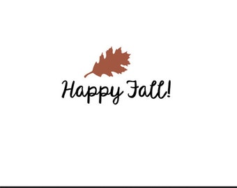 happy fall svg dxf file instant download silhouette cameo cricut clip art commercial use