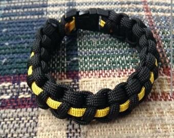 Two color line paracord 550 bracelet