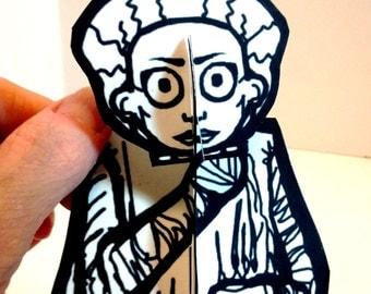 Bride of Frankenstein Monster Paper Figure - Printable Toy