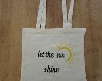 Let The Sun Shine canvas tote bag