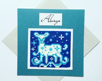 "3D Harry Potter Inspired ""Always"" Doe Patronus Greetings Card - Birthday, Anniversary, Thank You, Geek Love, Gamers Gifts"