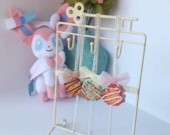 Vanilla Sandwich Cookie Necklace