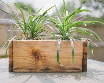 Cedar Planter Box / Rustic Wood Planter Box / Tabletop Planter Box / Wedding Centerpiece