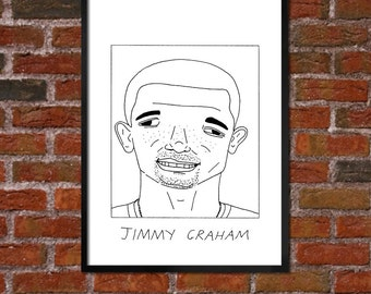 Badly Drawn Jimmy Graham - Seattle Seahawksposter / print / artwork / wall art