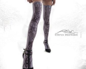 Original Art on Thigh Highs!