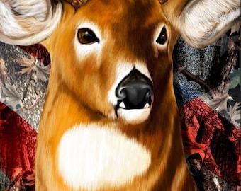 Deer Buck Head Flag Camo Cornhole Wrap Bag Toss Decal Baggo Skin Sticker Wraps