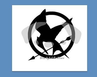 Hunger Games - Mockingjay - Katniss Everdeen - District 12 - Vinyl Car Decal - Bumper Sticker - Vinyl Laptop Decal - Phone decal - iPad
