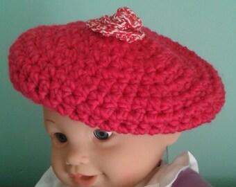 Hot Pink Toddler tam hat