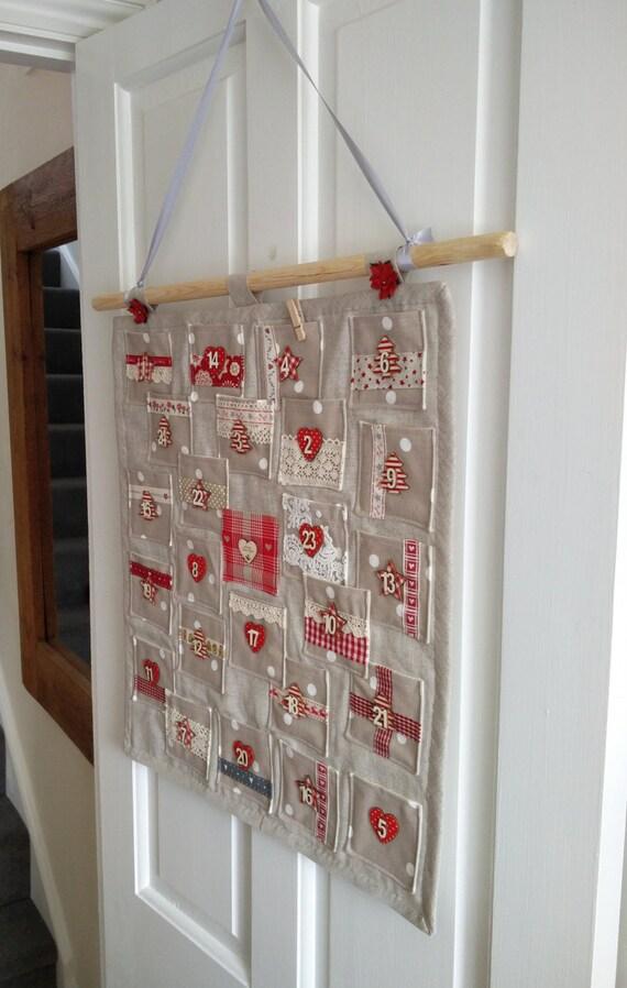 Advent Calendar Handmade : Items similar to handmade fabric christmas advent calendar