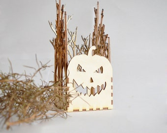 Halloween Lantern, Pumpkin Lantern, Pumpkin Lamp, Spooky Halloween, Tree Lamp, Halloween Decor, Halloween Gifts, Candle Holder
