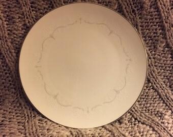 "Vintage 10.5"" Dinner Plate in Whitebrook by Noritake China"