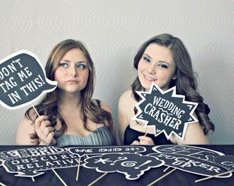 Wedding Photobooth Props - Set of 20