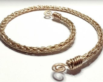 Bronze Viking Knit Torque - Norse/Celtic