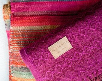 Alpaca Wool Blanket - FUCHSIA