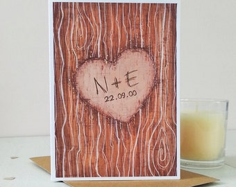 Tree Carving Personalised Card