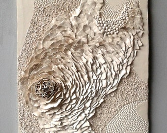 Decorative ceramic picture, relief wall panel, tile