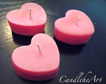 Tealight Heart Soy Candle -Set of 3