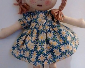 """Handmade """"A Daisy a Day"""" Country Prim Rag Doll"""