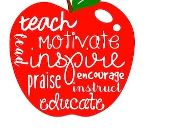 Teacher Motivate Decal