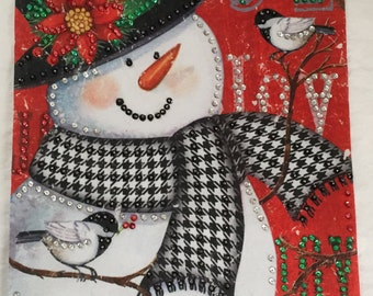 Snowman Holiday Wishes Banner-Completed
