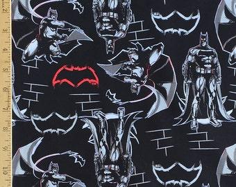 DC Comics Batman v Superman Dawn of Justice Batman Black Batman Fabric, Batman v Superman Black Fabric from Camelot Fabrics