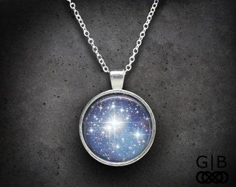 Sky Blue Necklace Sky Full of Stars Pendant Jewelry - Sky Full of Stars Necklace Blue Sky Pendant - Blue Star Jewelry Sky Necklace Pendant
