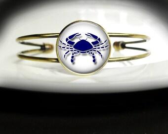 Cancer Bracelet Zodiac Cancer Bangle Bracelet Zodiac Bangle Jewelry Zodiac Cancer Bracelet Zodiac Cancer Birthday Gift Bracelet Bangle