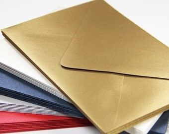 25 - A7 Metallic Euro Flap Envelopes - 5 1/4 x 7 1/4