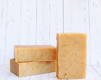 Orange Oatmeal - Natural Hand Made Natural Soap