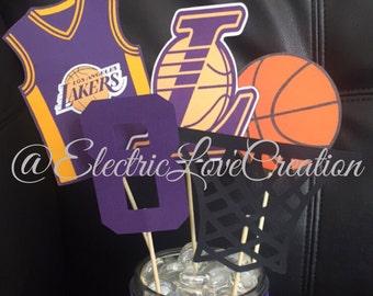 Los Angeles Lakers Centerpieces Set